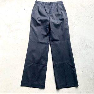 Talbots Stretch Navy Striped Wool & Silk Trousers
